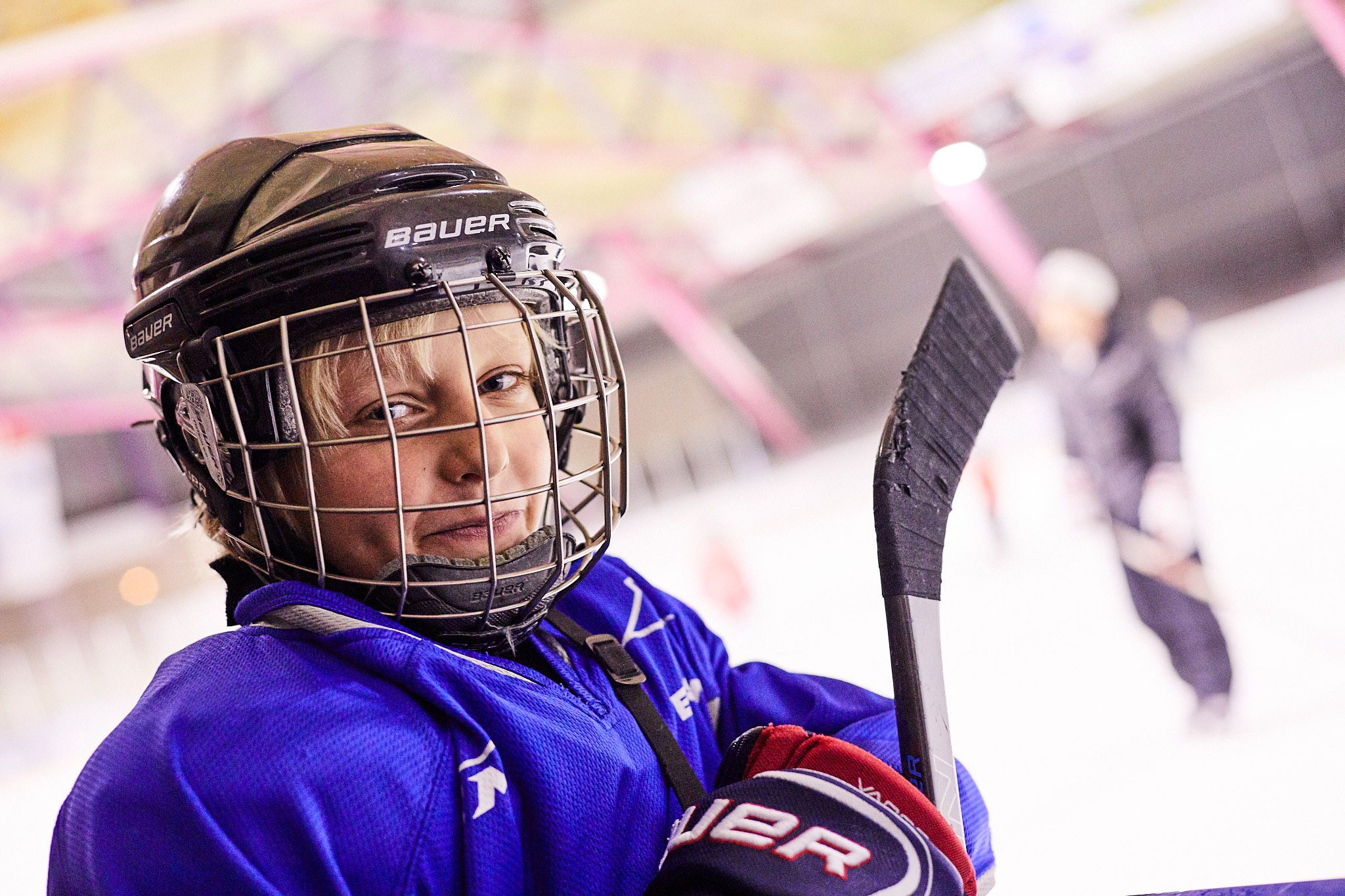 Our hockey star stays cool on the ice